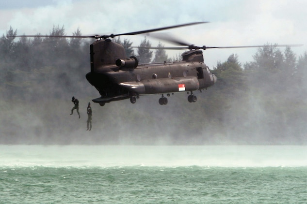 Singapore us leap for joint readiness marine corps for Naval diving unit