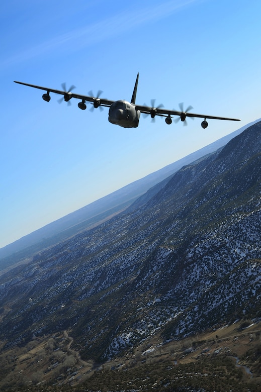A 522nd Special Operations Squadron MC-130J Commando II aircraft, flies over the skies New Mexico., Jan. 4, 2012.  The 522 SOS is stationed at Cannon Air Force Base, N.M. and the MC-130J provides in-flight refueling, infiltration/exfiltration and aerial delivery resupply of special operations forces.  (U.S. Air Force photo by Senior Airman James Bell)