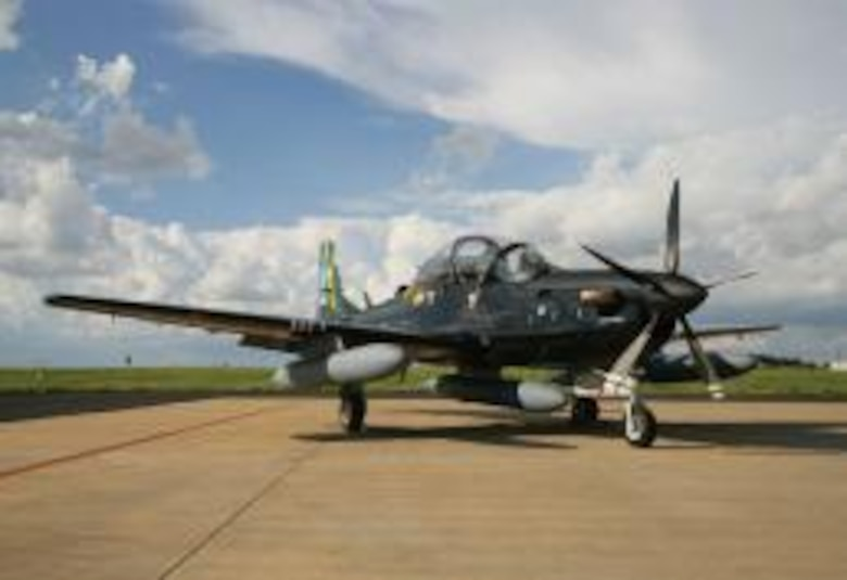 The Super Tucano has won the U.S. Air Force light air support contest, but Hawker Beechcraft has gone to court to try to overturn the choice. (U.S. Navy Photo by Petty Officer 1st Class Chris Fahey)