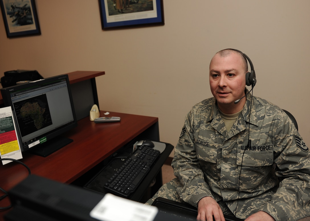 New York Air National Guard Staff Sgt. Edward Scalise participates in training at Hancock Field Air National Guard Base, Syracuse NY on 7 January 2012.  Staff Sgt. Scalise was selected to represent Hancock Field at the state level in the Outstanding Airman of the Year competition in the NCO category. (photo by Tech. Sgt. Ricky Best/RELEASED)