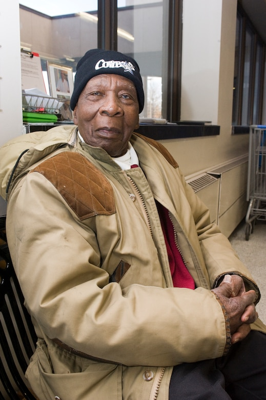 Robert Jenkins, a 95-year-old Navy veteran and part-time bagger at the Andrews Commissary, sees Dr. Martin Luther King Jr. as a role model for all generations. (photo/Bobby Jones)