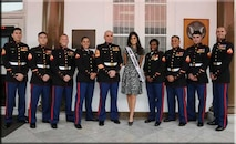 Miss Universe visits members of the Marine Corps Security Group Detachment Jakarta, Indonesia.