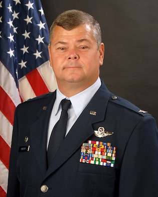Col Michael Hudson, Commander of the 169th Fighter Wing, McEntire JNGB, S.C., poses for his official portrait on August 29, 2011. (Photo taken while Vice Commander, as of 7 January Col. Hudson is 169th FW Commander)