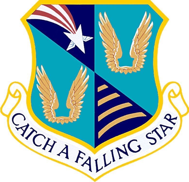 "Emblem of the USAF 6594th Test Group, Hickam Field, Hawaii, whose motto ""Catch a Falling Star"" perfectly captured their mission."