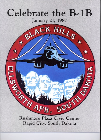 The brochure handed out to guests that were celebrating the arrival of Ellsworth's first B-1B, Jan. 21, 1987.