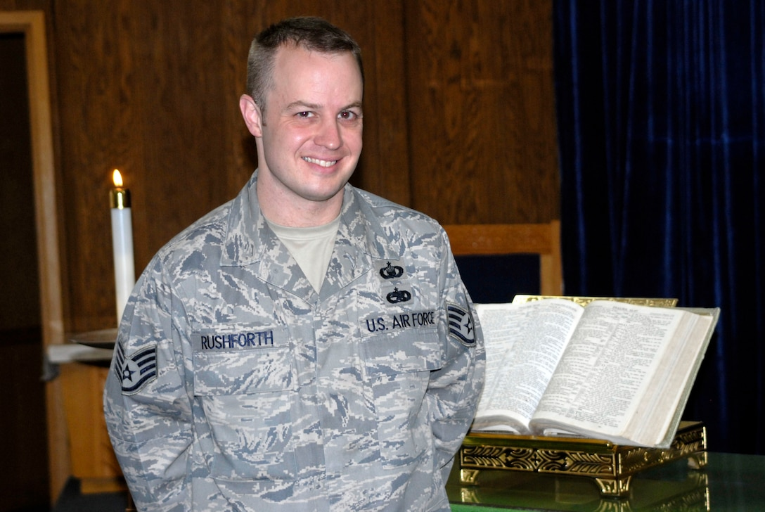 Staff Sgt. Shane Rushforth, 51st Fighter Wing chaplain's assistant. (U.S. Air Force photo/Tech. Sgt. Eric Petosky)