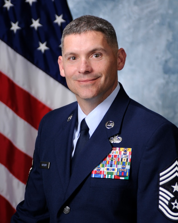 Chief Master Sgt. Patrick McMahon, 50th Space Wing command chief