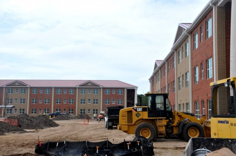 The U.S. Army Corps of Engineers Savannah District manages an extensive military construction program at Army and Air Force installations in Georgia and North Carolina. Pictured here is a barracks construction project for the 4th Infantry Brigade Combat Team at Fort Stewart, Ga. The Operation Warfighter internship program provides eligible Warriors in Transition with valuable on-the-job training in engineering and construction management as part of the Corps of Engineers military construction program.