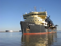Crew members of the Dredge McFarland rescued a boater who had reportedly been floating in 48 degree water for nearly three hours and was only minutes away from being carried out of the harbor and into the open ocean.