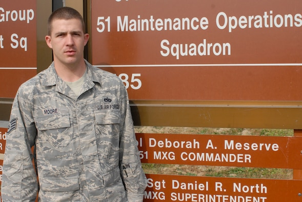 Staff Sgt. Michael Moore, 51st Maintenance Operations Squadron (Tech. Sgt. Eric Petosky)