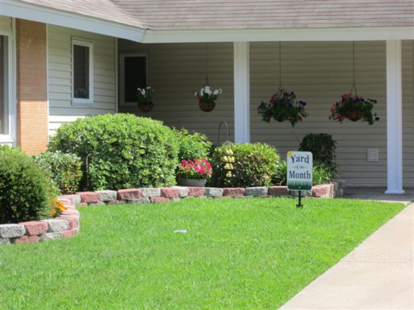 Forest City Communities recently announced its June Yard of the Month Winners at Joint Base Charleston – Air Base. This yard belongs to Tech. Sgt. Jason Mark from the 628th Air Base Wing Protocol Office Yard of the month winners receive a gift card for a local home improvement store. (Courtesy photo)