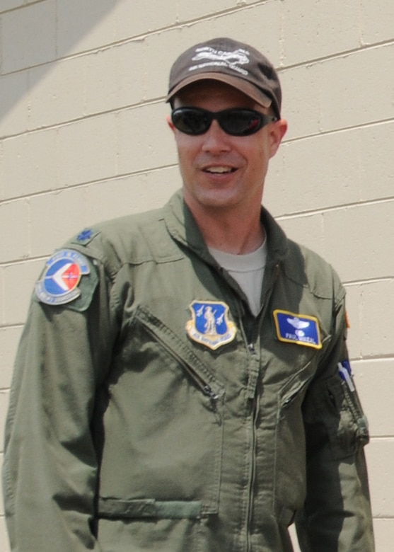 C-130 pilot Lt. Col. Paul K. Mikeal, one of 4 crew members who were killed July 1, 2012 after their C-130 crashed while fighting wildfires in South Dakota. 