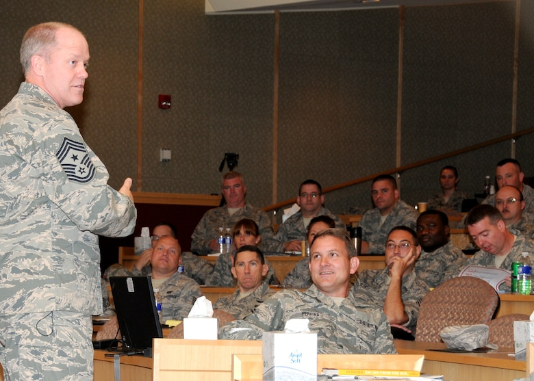"More than 130 staff and technical sergeants from the Massachusetts Air National Guard and two sergeants from each New England state, listen to Chief Master Sgt. Christopher Muncy, Air National Guard Command Chief, at the Southbridge Hotel & Conference Center for an inaugural 3-day workshop specifically targeted to the E-5 and E-6 ranks on July 11.  The workshop was titled ""TIME"" (Technical Sergeants Involved and Mentoring Enlisted Airmen) and primarily focused on building strength in enlisted mentorship, leadership, force development and diversity. (Air National Guard photo by Tech. Sgt. Melanie J. Casineau/Released)"