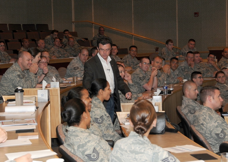 "More than 130 staff and technical sergeants from the Massachusetts Air National Guard and two sergeants from each New England state, listen to leadership educator and retired Chief Master Sgt. Christopher Coyne at the Southbridge Hotel & Conference Center for an inaugural 3-day workshop specifically targeted to the E-5 and E-6 ranks on July 11.  The workshop was titled ""TIME"" (Technical Sergeants Involved and Mentoring Enlisted Airmen) and primarily focused on building strength in enlisted mentorship, leadership, force development and diversity. (Air National Guard photo by Tech. Sgt. Melanie J. Casineau/Released)"