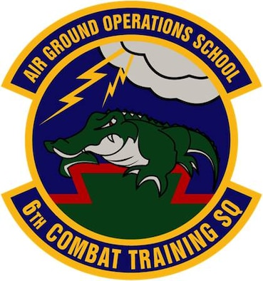 The emblem of the 6th Combat Training Squadron.