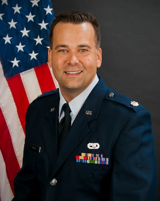 Portrait of Maj. Brian P. Doyle, commander of the 169th Maintenance Operations Flight at McEntire Joint National Guard Base, S.C.    (SCANG Photo by Master Sgt. Marvin Preston)