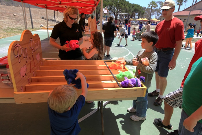 Carnival games were available for families to take part in at the 13th annual San Onofre Community Center Community Day Celebration, July 21. Free food and refreshments were also provided by the Armor of Light ministry at the celebration.
