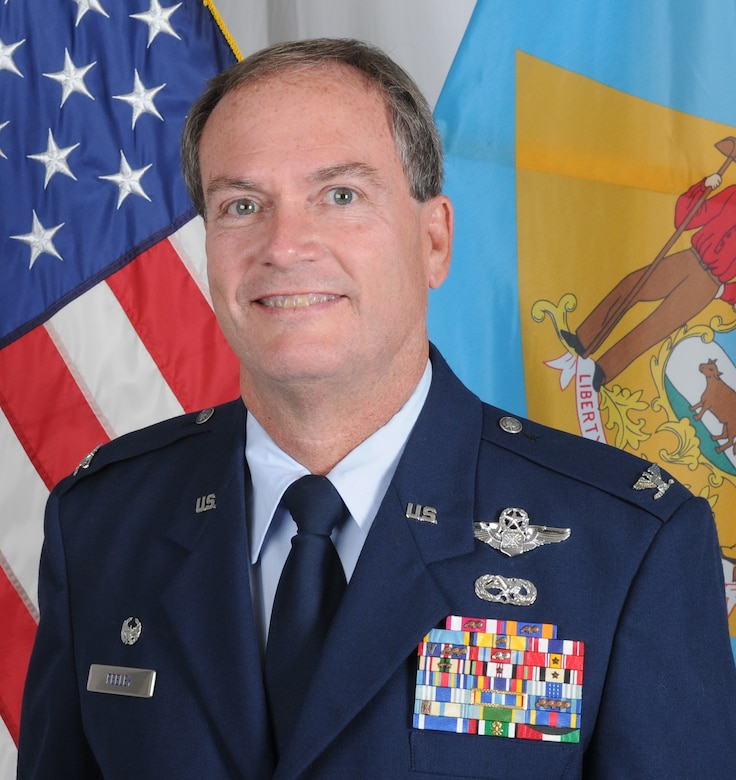U.S. Air Force Colonel Michael J. Feeley, commander, 166th Airlift Wing, Delaware Air National Guard (U.S. Air Force photo/Tech. Sgt. Rob Meredith)