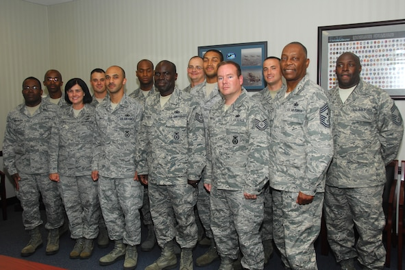 Members of the South Carolina Air National Guard at McEntire Joint National Guard Base, S.C., complete their final night class of the NCO Academy Distance Learning Program, June 7, 2012.  They will be attending a final two week in-residence training to complete their PME instruction at McGhee Tyson Air National Guard Base, T.N..
