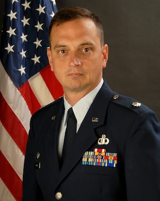 Lt. Col. Michael Dunkin, 245th ATCS Commander, poses for his photo on 9 Sept, 2011.