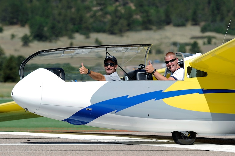 The TG-10 gliders were used for 140,000 flights and flew at 24,000 feet They had a record flight duration of 6.1 hours. (U.S. Air Force Photo/Sarah Chambers)