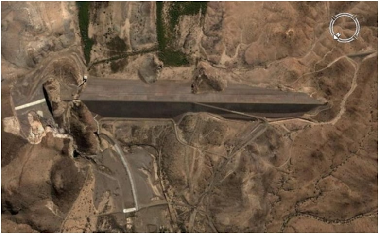 Aerial view of Painted Rock Dam