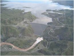 Aerial view of Alamo Dam