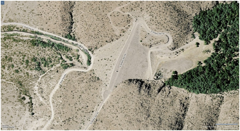 Aerial view of Whitlow Ranch Dam