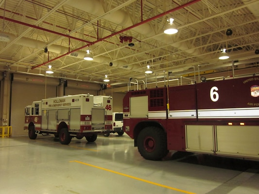 The nearly 20,000 square foot building has 10 equipment bays, fireman living quarters, crew chief living area, a fully equipped kitchen, a weight room with sauna and a parking lot with spaces for low-emission vehicles and bicycles.