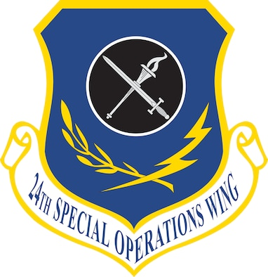 Ultramarine blue alludes to the sky, the primary theater of operations.  Air Force yellow refers to the sun and the excellence required of Air Force personnel.  The torch of knowledge in the circle represents the Wing's advisory and training role and the sword crossed over the torch is symbolic of the unit's tactical resources. The olive branch denotes the peace and good will missions conducted by the Wing for the betterment of mankind, while the lightning bolt signifies the swiftness with which the Wing can respond in case of aggression.