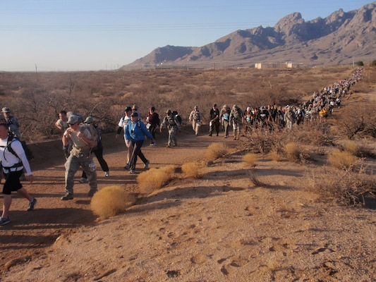 More than 6,000 people came to New Mexico March 27 for the 22nd Annual Bataan Memorial Death March.