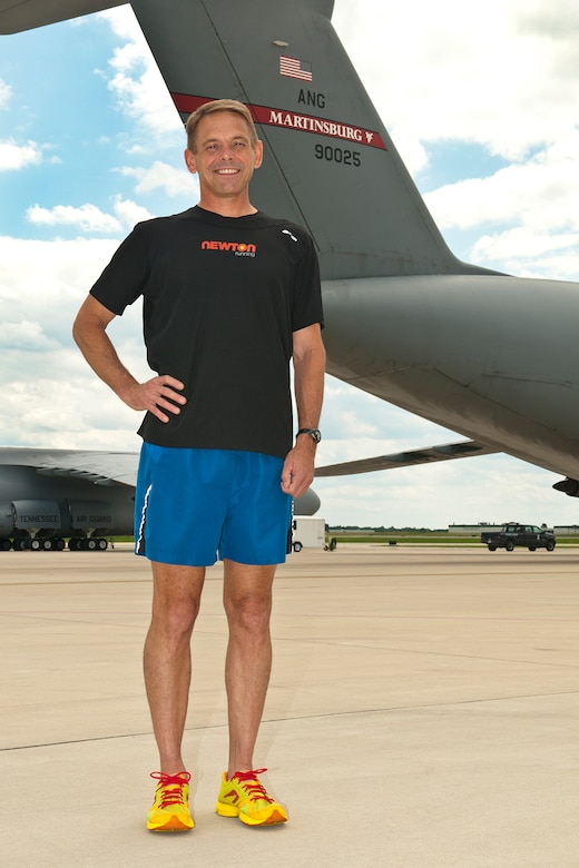 Staff Sgt. James Munnis, a flight engineer for the 167th Airlift Squadron,  recently competed at the 35th Annual Lincoln National Guard Marathon and qualified for the 2012-2013 All-Guard Marathon Team. Munnis will now travel and compete in various marathons representing the West Virginia National Guard. (Air National Guard photo by Master. Sgt. Emily Beightol-Deyerle)