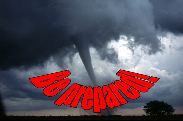 "According to the 633rd Civil Engineer Squadron Readiness and Emergency Management Flight, when it comes to tornadoes, there is no such thing as a ""tornado season."" Tornadoes can strike anywhere, anytime, and residents need to know the drill, and be prepared to act quickly. (U.S. Air FOrce Grpahic by Tech. Sgt. Randy Redman)"