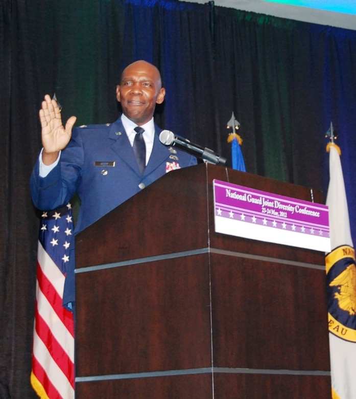 The Nevada Air Guard's Col. Ondra Berry, special assistant for diversity and special adviser to Gen. Craig McKinley, chief of the National Guard Bureau, addresses hundreds at the Diversity Conference in Reno.