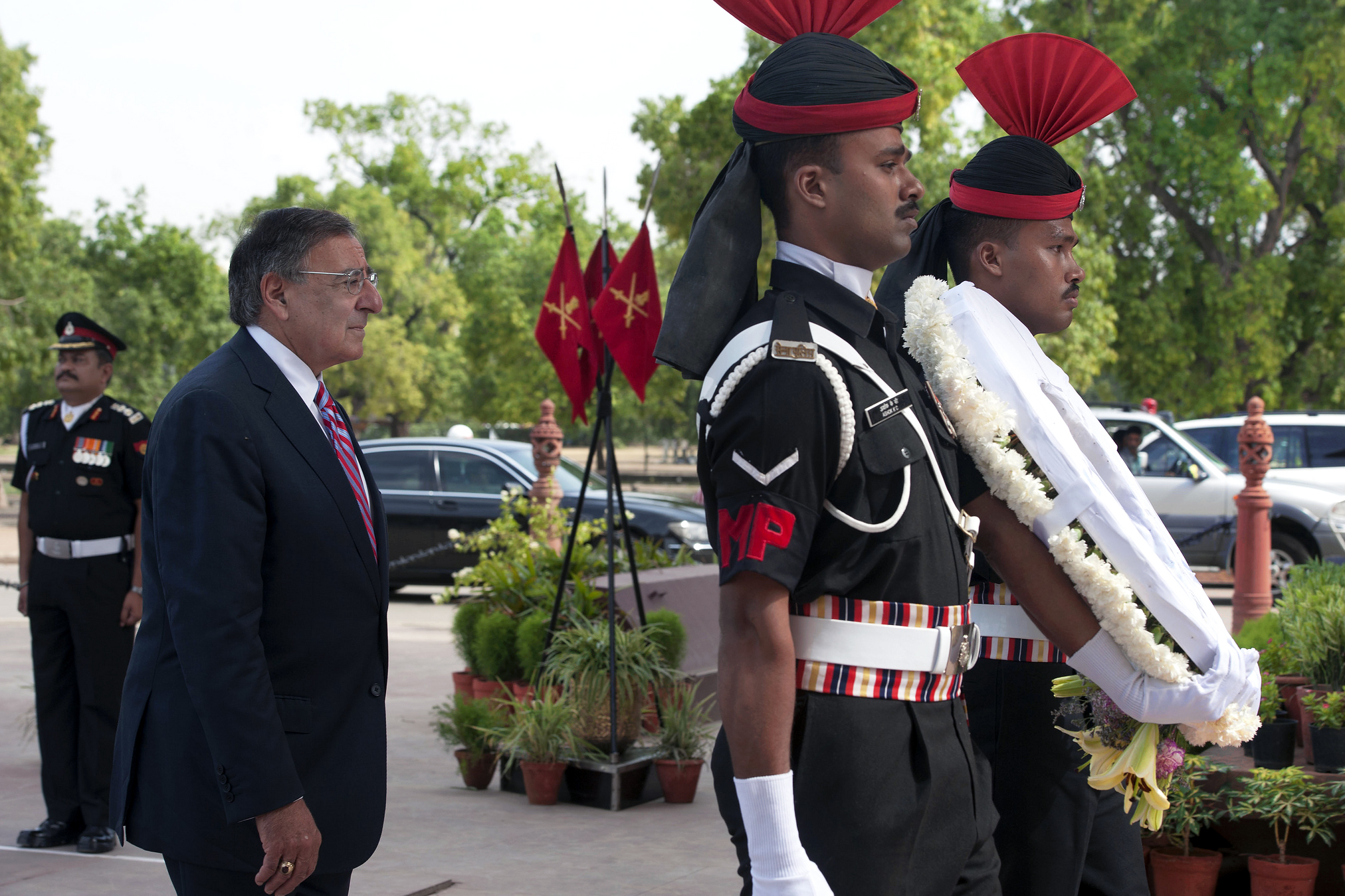 Help With Essay Papers Us Defense Secretary Leon E Panetta Walks With Indian Military Police  During A Wreath Laying Ceremony At India Gate In New Delhi June   Example Of An Essay Proposal also Narrative Essay Topics For High School Students Photo Gallery Thesis For An Essay