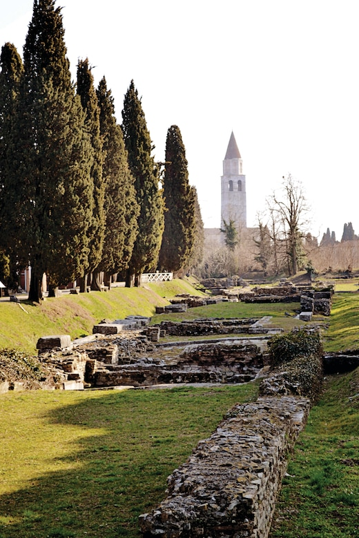 """The town, dubbed """"Second Rome,"""" was not only destroyed and demolished by Attila the Hun in the 4th century, but after the ambush many Venetians traveled to Aquileia to acquire building supplies. They ended up stealing stones to help construct their homes in Venice. (Photo by Jessica Lynn)"""