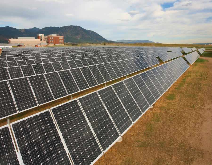 FORT CARSON, Colo. — The brigade and battalion headquarters building, 4th Brigade Combat Team, 4th Infantry Division, features an on-site solar array, which supplies approximately 62 percent of the building's electrical power needs.