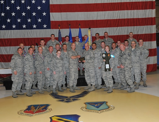 The 388th Equipment Maintenance Squadron, led by U.S. Air Force Lt. Col. Timothy Howard, was recognized as one of the two Maintenance Squadrons of the Year at the annual Maintenance Professional of the Year Awards held June 9. With about 500 people in attendance, this year marks the first time the 388th and 419th Fighter Wings held a combined ceremony to recognize outstanding Airmen in the active duty and Reserve. (U.S. Air Force photo by Kim Cook/Released)