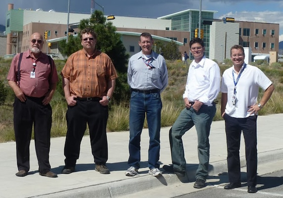 Pictured in Los Alamos are members of the   District's on-site team: (left to right) William Wadsworth, Richard Kridler, Glenn McMaken, Jason Woodruff and Milo Gerber.  Not shown is Ragan Glandon.