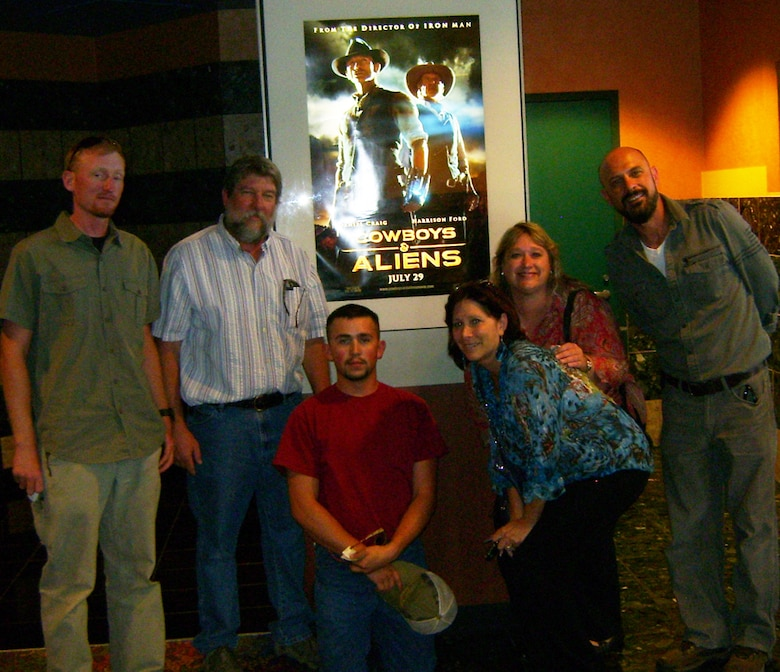 Corps' staff who went to the film in this picture are:(L to R) Austin Kuhlman, David Dutton, Paul Branch, Ronnie Schelby, Kristen Skopeck, and Eric Garner. Not pictured: Lisa Lockyear and Brad Atwood.