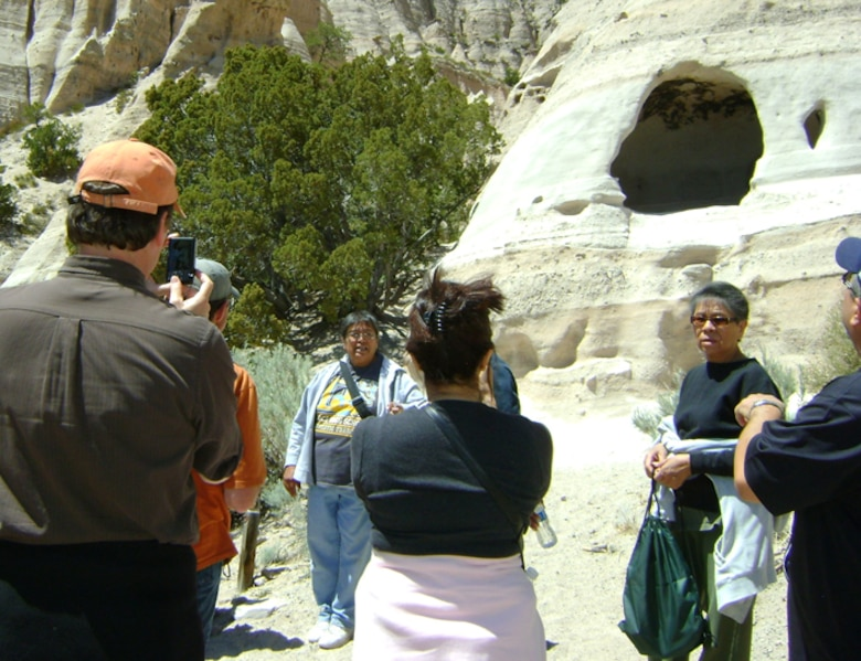 Students were taken to Kasha-Katuwe Tent Rocks, considered a significant place by the Cochiti.
