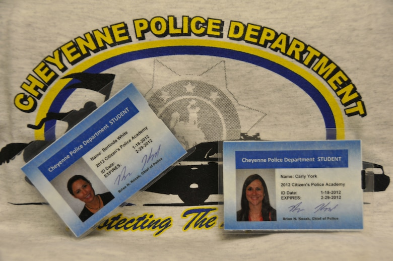 Crime scene processing, traffic enforcement, firearms familiarization, and building searches were just a few of the law enforcement duties 1st Lt. Berlinda White and 2nd Lt. Carly York were introduced to during their eight week attendance at the Citizen's Police Academy.