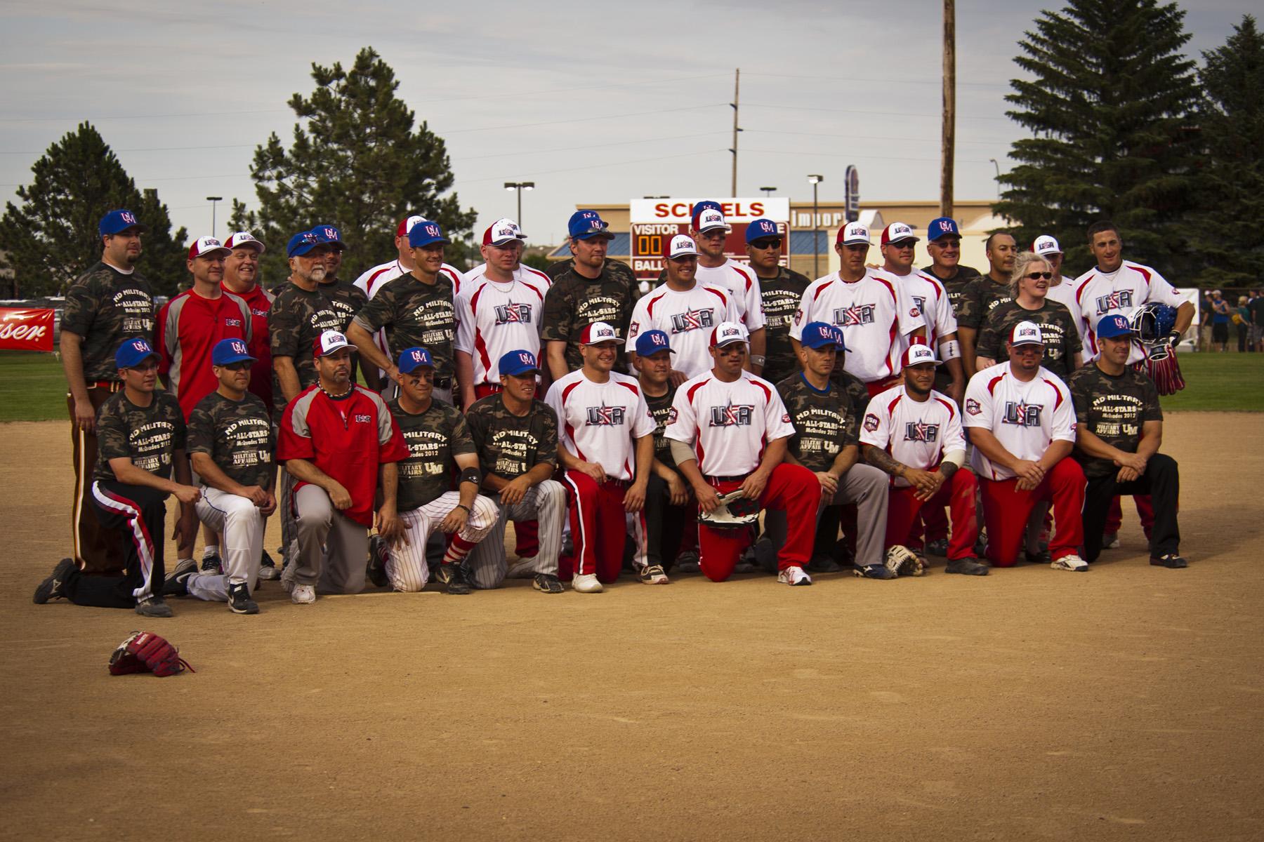 c931464d4b4d McQuade s ND Military All Stars Softball Team played Team USA Features