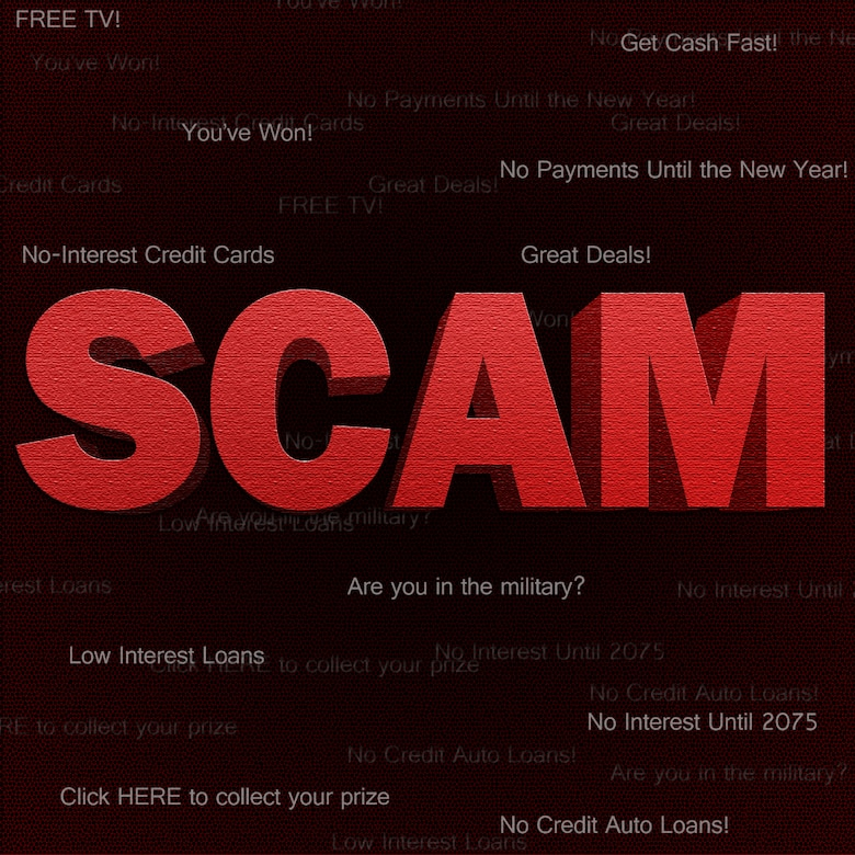 Scam Alert! (U.S. Air Force graphic by Senior Airman Jarad A. Denton/Released)