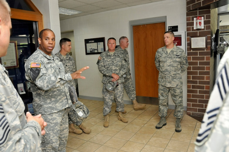 McGHEE TYSON AIR NATIONAL GUARD BASE, Tenn. - Leadership from the Lavern E. Weber National Guard Bureau Professional Education Center (PEC) visited the I.G. Brown Training and Education Center here, June 20, 2012. The PEC, located at Camp Robinson, Ark., is the Army National Guard's version of the Training and Education Center. (National Guard photo by Master Sgt. Kurt Skoglund/Released)