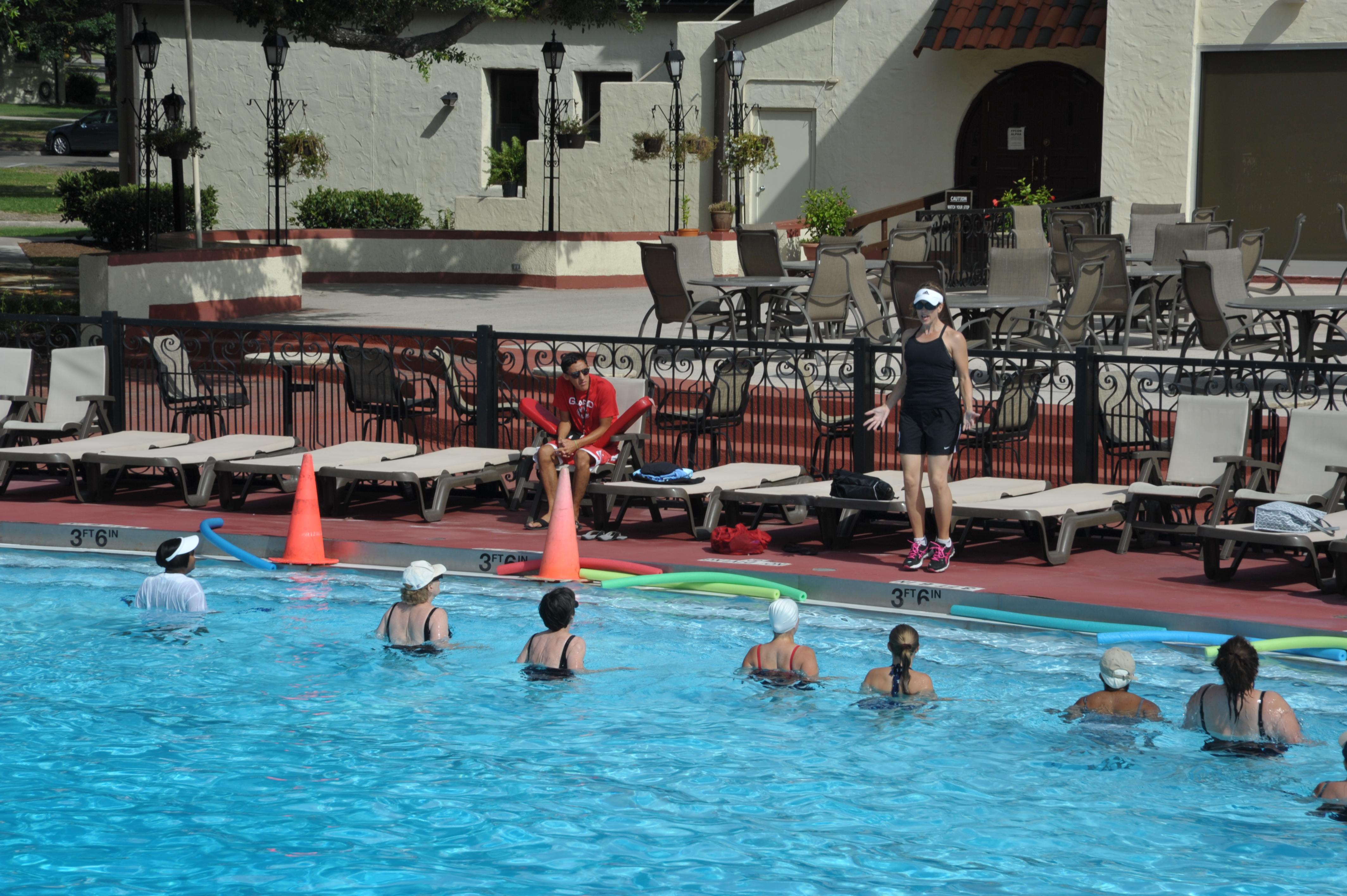 Water Aerobics Class Offers Exercise Fun Joint Base San Antonio News