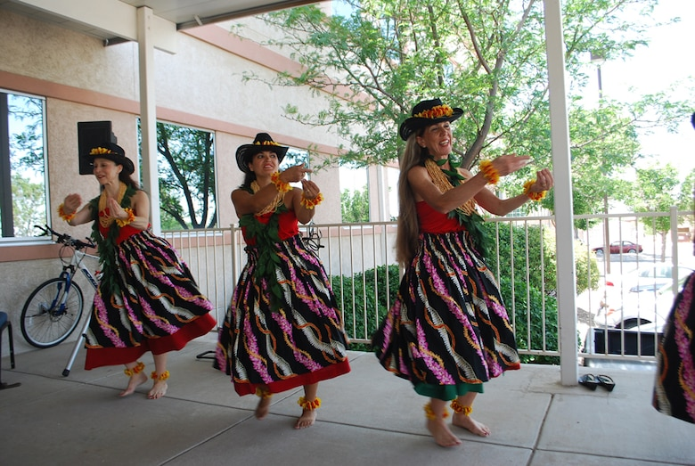 The dancers entranced the audience with their elegant renditions of hula dances.