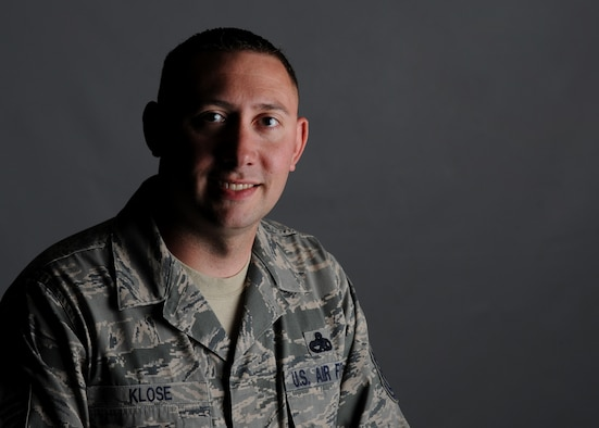 U.S. Air Force Master Sgt. Michael Klose, 366th Fighter Wing Inspector General complaints and oversight superintendent, poses for a photo June 6, 2012, at Mountain Home Air Force Base, Idaho. Klose is one of 21 Airmen from across the Air Force selected for the 2013 Interservice Physician Assistant Program. (U.S. Air Force photo/Senior Airman Benjamin Sutton/Released)