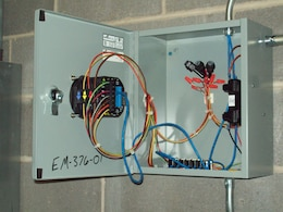 Advanced power meters like this one installed at a facility on Redstone Arsenal, Ala. have been monitoring energy use ar