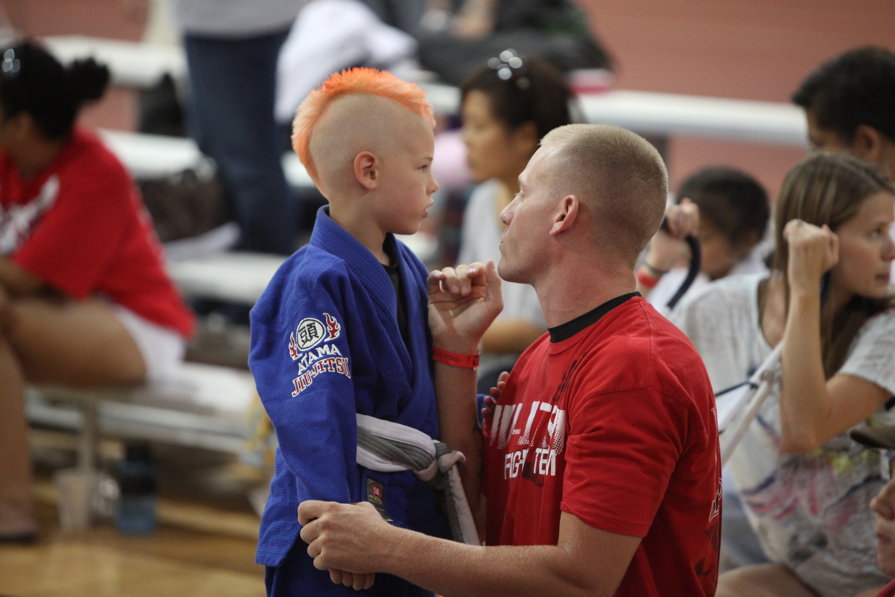 Marine Corps Sgt  James W  Bridger gives advice to his son